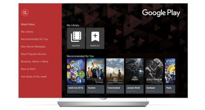 Smart TV LG получат поддержку сервиса Google Play Movies & TV