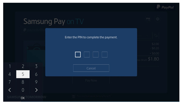 Samsung Pay TV pin