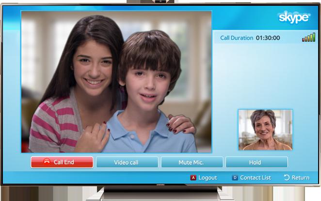 Skype Samsung Smart TV