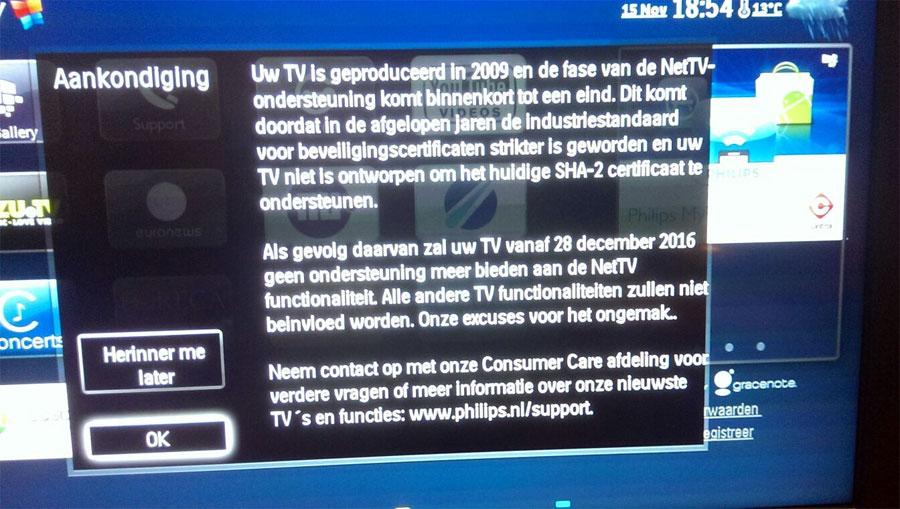 Philips 2009 smart tv не работает