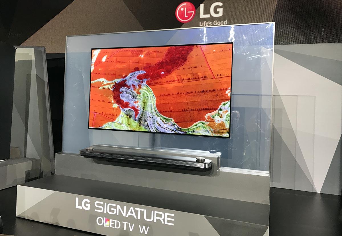LG Signature OLED TV HDR 2017